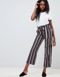 JDY Anneline belted stripe wide leg trousers - Multi