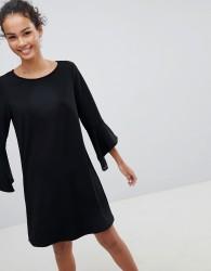 JDY Bernadette Bell Sleeve Dress - Black