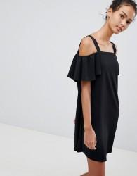 JDY Bernadette Cold Shoulder Dress - Black