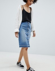 JDY buttton denim skirt - Blue