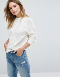 JDY Cable Knit Jumper - White