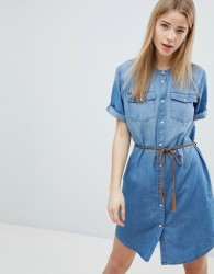 JDY Denim Shirt Dress - Blue
