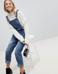 JDY Distressed Dungarees - Blue