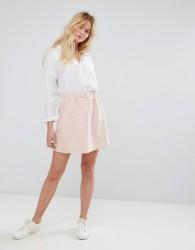 J.D.Y Embossed Slogan Jersey Skirt - Pink
