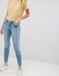 JDY Flora ripped skinny jeans - Blue