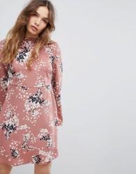 JDY Floral Printed Skater Dress - Multi