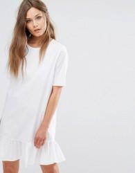 JDY Frill Hem Dress - White