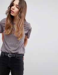 JDY Frill Sleeve T-Shirt - Multi