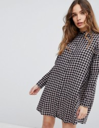JDY Gingham Printed Shirt Dress - Multi