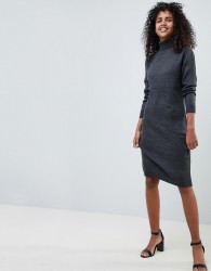 JDY High Neck Jumper Dress - Grey