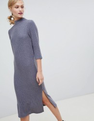 JDY high neck midi dress - Grey