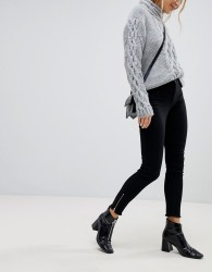JDY Jeans With Ankle Zip - Black