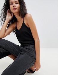 JDY Jenn Glitter Cami Vest - Black