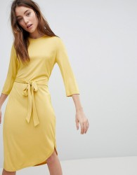 JDY Jersey Dress With Tie - Yellow