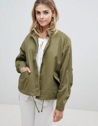 JDY Jojo stud canvas jacket - Green