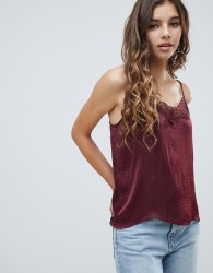 JDY lace cami top - Red