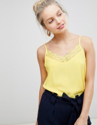 JDY Lace Trim Cami - Yellow