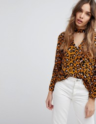 JDY Leopard Print Blouse - Brown