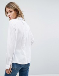 JDY Long Sleeve Collar Shirt - White
