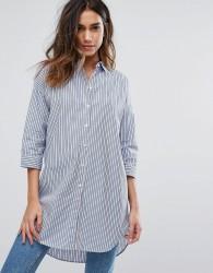 JDY Long Sleeve Stripe Shirt - Blue
