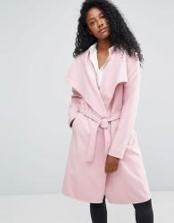 JDY Long Trench Coat - Pink