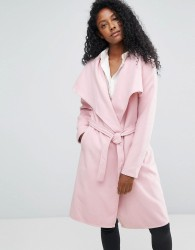 JDY Long Trench Coat - Pink