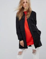 JDY Maria Parka Hybrid Jacket - Black