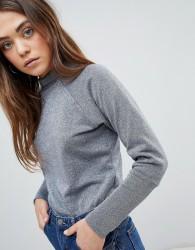 JDY Melody Funnel Neck Sweatshirt - Grey
