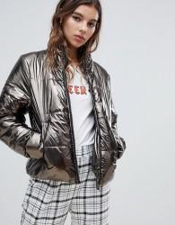 JDY metallic padded jacket - Gold