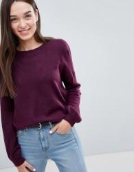 JDY Octavia Wool Blend Knit Jumper - Purple