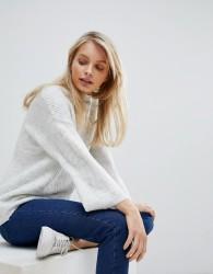 JDY Olivia High Neck Soft Jumper - White