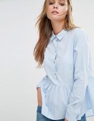 jdy Peplum Shirt - Blue