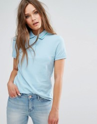 JDY Polo Shirt with Tipping - Blue