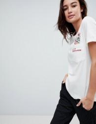JDY Print Detail T-Shirt - White