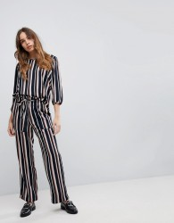 JDY Printed Stripe Belted Trousers - Multi