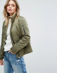 JDY Quilted Padded Jacket - Green