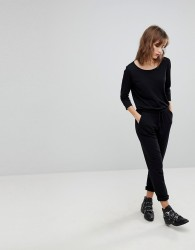 JDY Relaxed 3/4 Sleeve Jumpsuit - Black