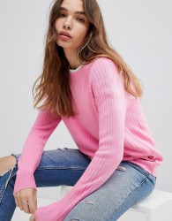JDY Ribbed Jumper - Pink
