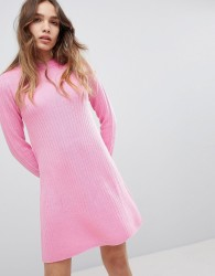 JDY Ribbed Knitted Dress - Pink