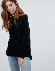 JDY Ribbed Knitted Jumper - Black