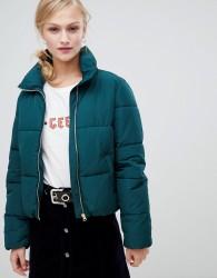 JDY short padded jacket - Green