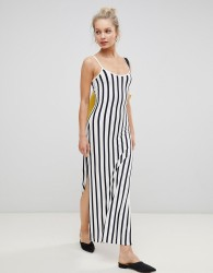 JDY Striped Maxi Dress With Strappy Back - Multi