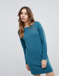 JDY textured mini shift dress in blue - Green