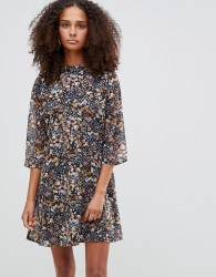 JDY three quarter sleeve floral dress - Multi