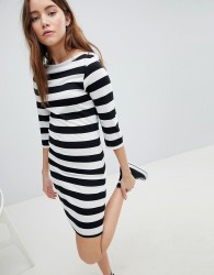 JDY three quarter sleeve striped jersey dress - Multi