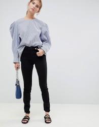 JDY Ulle high rise skinny jeans - Black