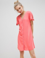 JDY V-Neck Tea Dress - Red