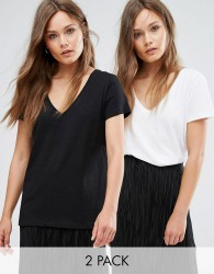 JDY V-Neck Top 2 Pack - Black