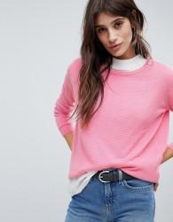 JDY Weave Detail Crew Neck Knitwear - Pink