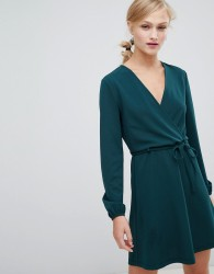 JDY wrap mini dress - Green